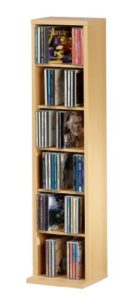 Regal 25cm breit - VCM Elementa 12053 CD/DVD-Anbauprogramm buche