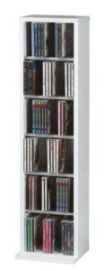 VCM 12067 VCM Anbauprogramm CD Regal Weiß | Schrank 20 cm Tief | CD Schrank Weiß