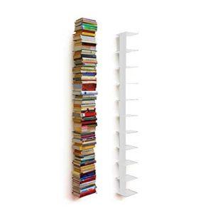 Regal 25cm breit - Haseform Bücherturm 170 cm (für 1,80 m Bücher) weiss Bücherregal Wandregal
